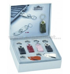 EXPOKIT 7 WITH KEY RING LEATHER USB MEMORY 4 GB
