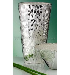 H.30 CM TREE VASE MOTHER OF PEARL SILVER 999/1000