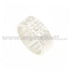 BAND DIAMOND RING IN SILVER WITH PLOT STELLINA TIT.925