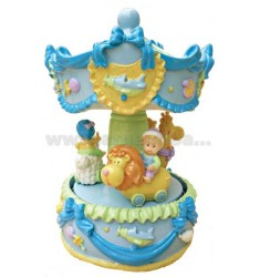 CAROUSEL BABY BLUE H 17 CM WITH BELLS