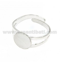 Casting ADJUSTABLE RING WITH SURFACE SILVER 925 ROUND DIAMETER 10 ‰