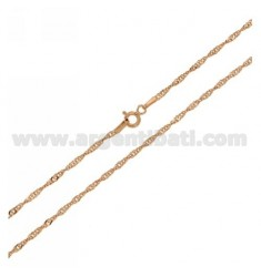 SINGAPORE CHAIN PLATED ROSE GOLD CM 40 IN AG TIT 925 ‰