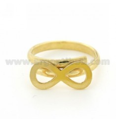 INFINITE TO SIZE ADJUSTABLE RING GOLD PLATED 925 ‰