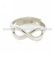 INFINITE TO SIZE ADJUSTABLE RING IN SILVER RHODIUM 925 ‰