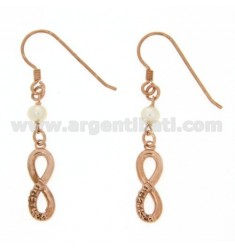 EARRING WITH ENDLESS ATTACK nun BEAD SILVER AND COPPER 925 ‰
