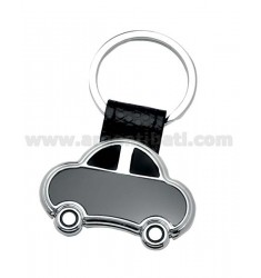 CAR KEY RING BLACK STEEL
