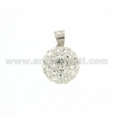 SPHERE PENDULUM 10 MM WITH RHODIUM-PLATED SILVER 925 ‰ RHODIUM-PLATED SILVER PENDULUM