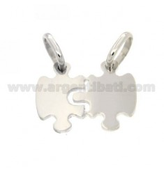 Pendants PUZZLE DIVISIBLE MM22X27 SILVER RHODIUM 925 ‰