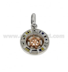 PENDING WITH ROUND TIMOME PLATED PINK GOLD SILVER RHODIUM TIT 925 ‰ AND GLAZE