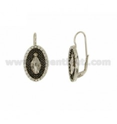EARRINGS MIRACULOUS IN AG TIT 925 ‰ PLATED RHODIUM AND RUTHENIUM AND ZIRCONIA