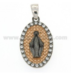 MIRACULOUS RUTENIO PENDANT IN COPPER AND INSIDE TOUR WITH ZIRCONIA SILVER 925 ‰