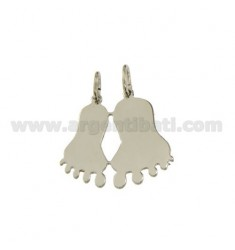 Pendant DIVISIBLE FEET IN SILVER RHODIUM 925 ‰