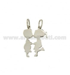 PENDANT BOY GIRL DIVISIBLE SILVER RHODIUM 925 ‰