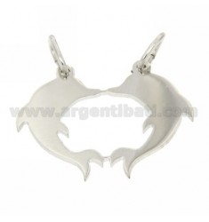 DIVISIBLE DOLPHINS PENDANT SILVER RHODIUM 925 ‰