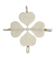 Pendant HEARTS IN 4 PIECES DIVISIBLE SILVER RHODIUM 925 ‰