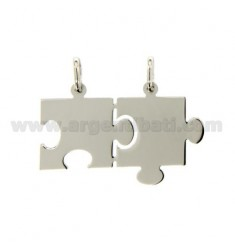 Pendants PUZZLE DIVISIBLE MM 22X34 SILVER RHODIUM 925 ‰