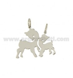 Pendant fawns DIVISIBLE SILVER RHODIUM 925 ‰