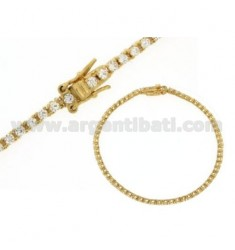 TENNIS BRACELET IN MM 2 AG TIT 925 ‰ GOLD PLATED YELLOW AND WHITE ZIRCONIA