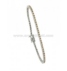 BRACCIALE TENNIS MM 2 IN AG TIT 925‰ RODIATO E ZIRCONI CHAMPAGNE