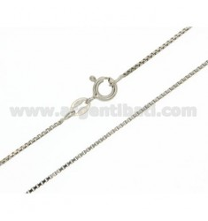 VENETIAN CHAIN MM 0,8 CM 80 IN RHODIUM-PLATED SILVER 925 ‰