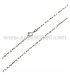 ROLO CHAIN 'MM 2 CM 60 IN RHODIUM-PLATED SILVER 925 ‰