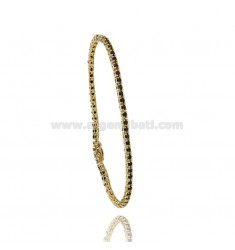 TENNIS BRACELET IN YELLOW GOLD PLATED MM 2.AG.TIT 92.5 ‰ BLACKS AND ZIRCONIA