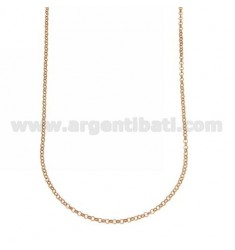 ROLO CHAIN MM 2 ROSE GOLD PLATED 40 CM IN AG TIT 925 ‰