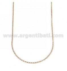 ROLO CADENA Chapado en oro rosa 27 CM 45 EN TIT AG 925 ‰