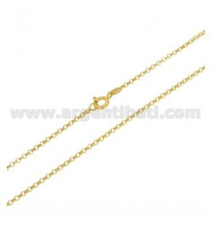ROLO CHAIN MM 2 GOLD PLATED CM 40 IN AG TIT 925 ‰
