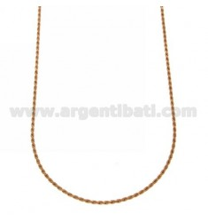 ROPE CHAIN 1.6 MM ROSE GOLD PLATED 40 CM IN AG TIT 925 ‰