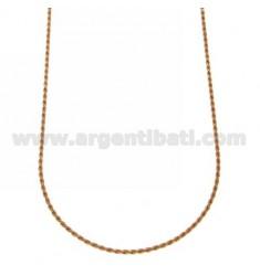 SEILKETTE MM 1,6 ROSE GOLD PLATED CM 45 IN AG TIT 925 ‰
