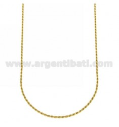 ROPE CHAIN 1.6 MM GOLD PLATED 40 CM IN AG TIT 925 ‰
