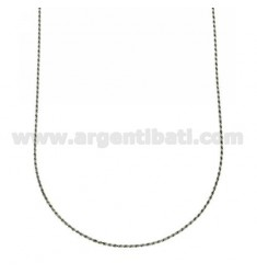 ROPE CHAIN MM 1,6 CM 40 IN RHODIUM-PLATED SILVER 925 ‰