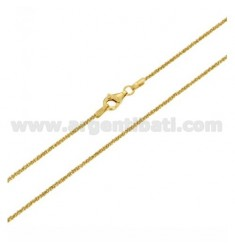 DISC CHAIN 1.4 CM 50 CM GOLD PLATED IN AG TIT 925 ‰