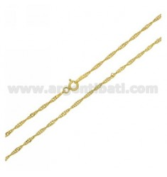 GOLD PLATED SINGAPORE CHAIN CM 60 IN AG TIT 925 ‰