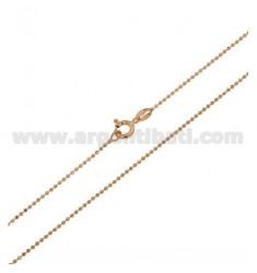KUGELKETTE FACETED ROSE GOLD PLATED 1,2 CM 40 MM IN AG TIT 925 ‰