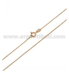 KETTENKUGEL FACETED ROSE GOLD PLATED MM 1,2 CM 60 IN AG TIT 925