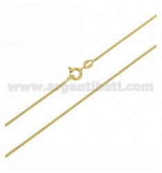 CURB-KETTE 1,2 CM 60 MM GOLD PLATED IN AG TIT. 925 ‰