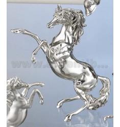 RAMPANT ^ 3 HORSE SIZE POLISHED 20X8 CM.5 H.23.5