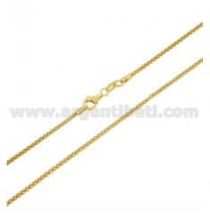 POP CORN CHAIN MM 1,8 GOLD PLATED CM 45 IN AG TIT 925 ‰