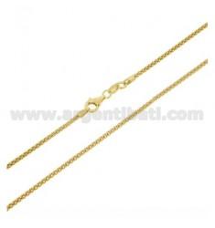 POP MAISKETTE 1,8 MM vergoldet 60 CM IN AG TIT 925 ‰