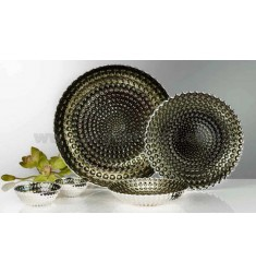 GIOTTO PLATE 33 CM SILVER MOSS GREEN 999/1000