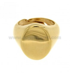 LITTLE FINGER RING ADJUSTABLE VERTICAL OVAL SILVER GOLD PLATED 925 ‰