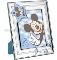 FRAME FL MICKEY BLUE SATIN POLISHED 13X18 CM R / WOOD ARG.