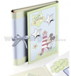 MICKEY BLUE LOVE ALBUM 15X20 CM CD HOLDER WITH CALENDAR AND ARG.