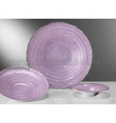 WICKER LILAC SILVER BOWL 20 CM 999/1000