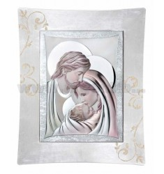 HOLY FAMILY PICTURE 52X62 CM COLOURED R / WOOD LAM.AG