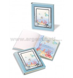 SEA BLUE ALBUM WITH FRAME 25X30 CM CM 13X18 ARG.