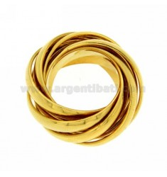 9 BAND WIRE SILVER PLATED YELLOW GOLD SIZE 16 925