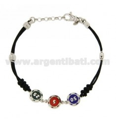 BRACCIALE FICHES IN AG RODIATO TIT 925‰ E SMALTO